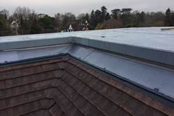 Single ply roofing membrane close-up