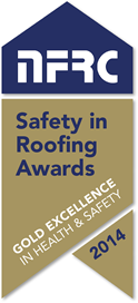 NFRC Safety in Roofing Awards, Gold Excellence 2014