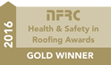NFRC Gold Winner Health and Safety in Roofing Award 2016